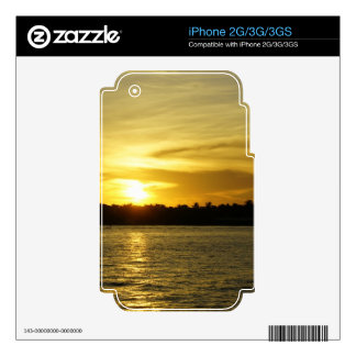 Golden Sunset Decals For iPhone 3G
