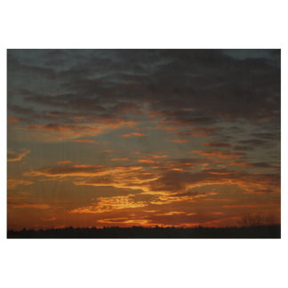 Golden Sunset Sky Wood Poster