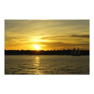 Golden Sunset Customized Stationery