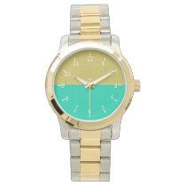 Golden Sunset Waters Wrist Watch