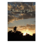 Golden Sunset with God Rays - Thinking of You Card