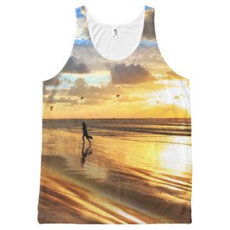 Golden Surf Sunset All-Over Print Tank Top