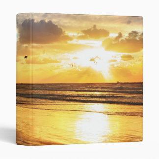 Golden Surf Sunset Binder
