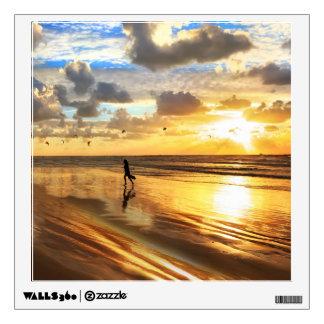 Golden Surf Sunset Wall Decal