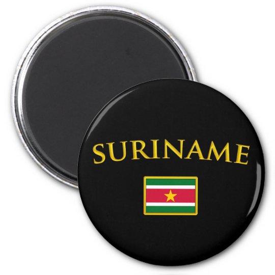 Golden Suriname 2 Inch Round Magnet
