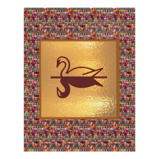 Golden SWAN -  Happy Holidays Decorations Letterhead