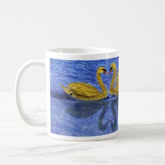 golden swans lefthanded coffee mug