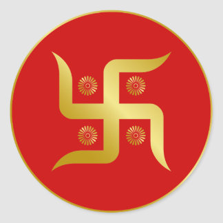 Golden Swastika Stickers