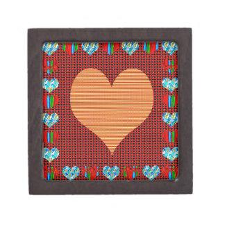 Golden Sweet Heart Premium Jewelry Box