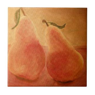 Golden Sweet Pears trivet Tile