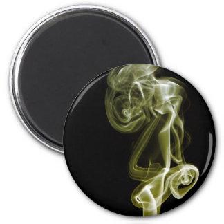 Golden Swirl 2 Inch Round Magnet