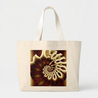 Golden Swirl Jumbo Tote Canvas Bag