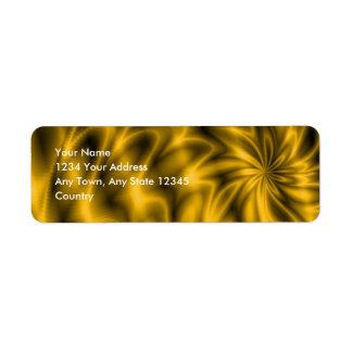 Golden Swirl Label