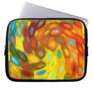 Golden Swirl Laptop Computer Sleeve
