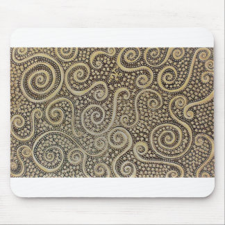 Golden Swirl Mouse Pad