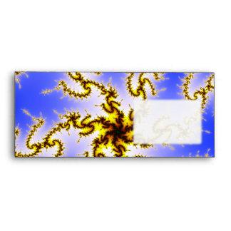Golden Swirl on Blue - fractal design Envelope
