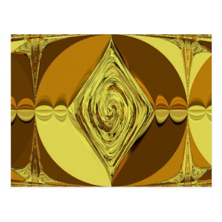 GOLDEN SWIRL POSTCARD