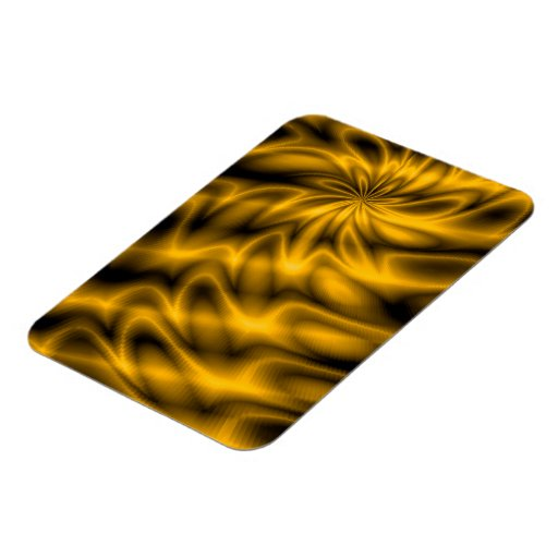 Golden Swirl Rectangular Photo Magnet