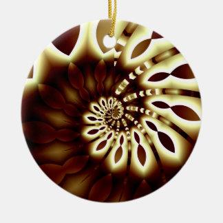 Golden Swirl Round Ornament