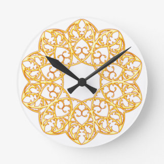 Golden Swirl Spike Clock