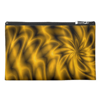 Golden Swirl Travel Accessory Bags
