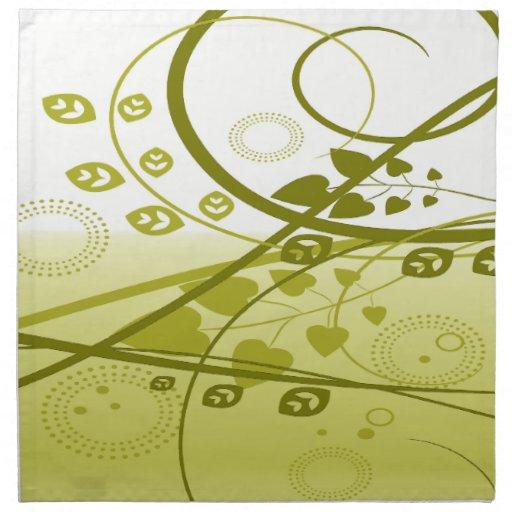 Golden Swirling Vines Napkins