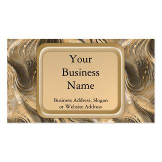 Golden Swirls Business Card