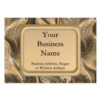 Golden Swirls Large Business Card
