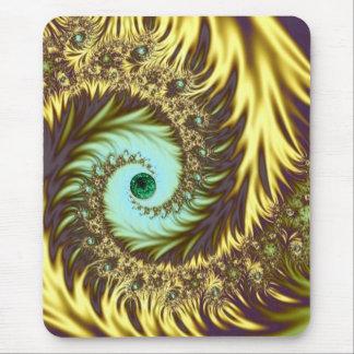 Golden Swirls Mousepad