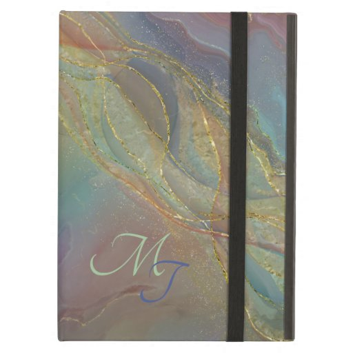 Golden swirls pastels background case for iPad a