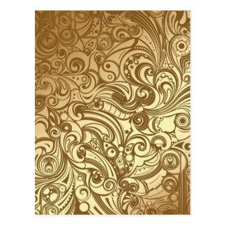 Golden Swirls Postcard