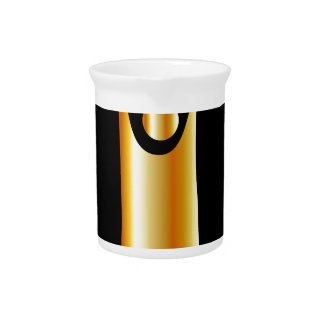 Golden symbol of Humanism Beverage Pitcher