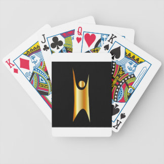 Golden symbol of Humanism Bicycle Playing Cards