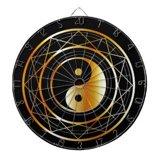 Golden symbol of Taoism Daoism Dart Board