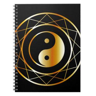 Golden symbol of Taoism Daoism Spiral Notebook