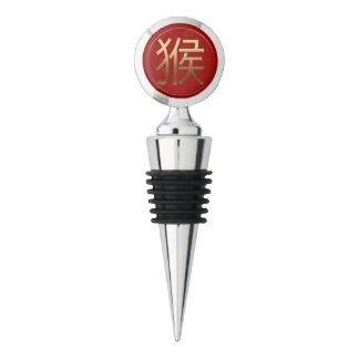 Golden Symbol of The Monkey Chinese New Year 2016 Wine Stopper