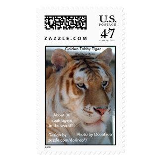 Golden Tabby  Tiger  (Panthera tigris) 2 Postage