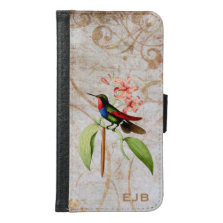 Golden Tailed Sapphire Hummingbird Wallet Phone Case For Samsung Galaxy S6