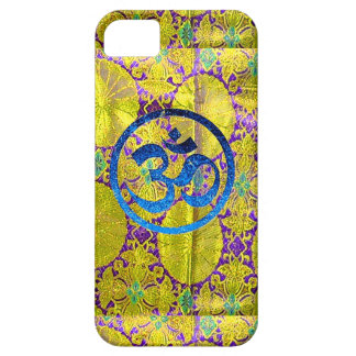 GOLDEN TAPESTRY - BLUE OM - iPhone 5 CASES