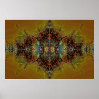 Golden Tapestry Poster