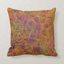 Golden Tapestry Throw Pillow