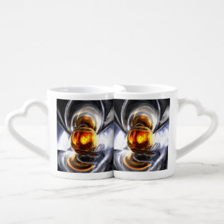 Golden Tears Pastel Abstract Couples Coffee Mug