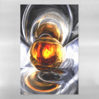 Golden Tears Pastel Abstract Magnetic Dry Erase Sheet
