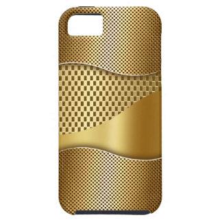Golden Tech Mesh Chrome 1 iPhone SE/5/5s Case