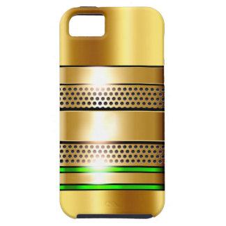 Golden Tech Mesh Chrome 4 green iPhone SE/5/5s Case