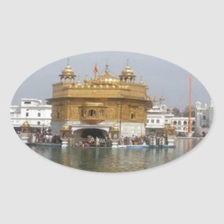GOLDEN TEMPLE : Amritsar India Oval Stickers