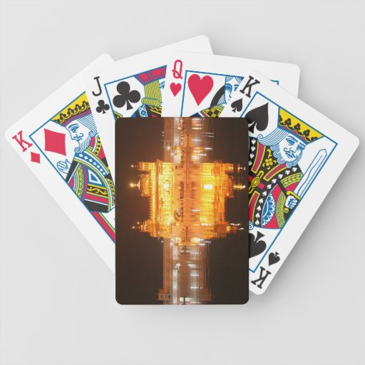 Golden Temple Amritsar North India at Night Bicycle Playing Cards