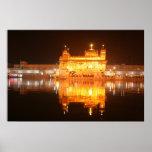 Golden Temple Amritsar North India at Night Poster