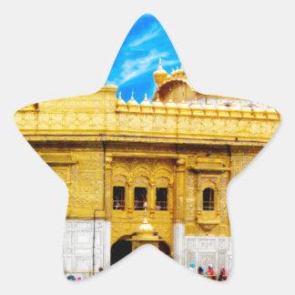 GOLDEN TEMPLE BLUE SKY BACKGROUND AMRITSAR STAR STICKER