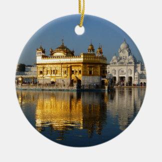 Golden Temple Ceramic Ornament